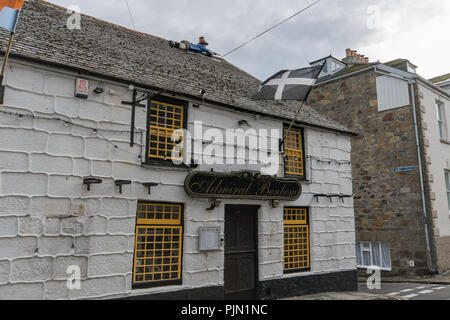 Admiral Benbow Pub in Penzance - Stock Photo