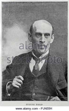 Eugene Field Sr., 1850 – 1895, was an American writer, best known for his children's poetry and humorous essays. Illustration from 1900. - Stock Photo