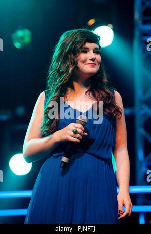 The Idool Live On Stage concert in the Lotto Arena, Antwerp (Belgium, 25/06/2011) - Stock Photo