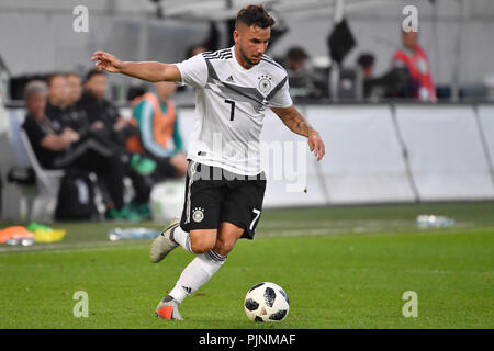 Marco RICHTER (GER), Action, Single Action, Frame, Cut Out, Full Body, Whole Figure. Football U-21 Laender game. Germany (GER) - Mexico (MEX) 3-0, on 07.09.2018 in Fuerth, Sportpark Ronhof/Thomas Sommer. DFB REGULATIONS PROHIBIT ANY USE OF PHOTOGRAPH AS IMAGE SEQUENCES AND/OR QUASI VIDEO. | usage worldwide - Stock Photo