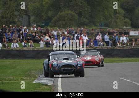 Goodwood, West Sussex, UK. 8th September 2018. RAC TT celebration at the 20th Goodwood Revival in Goodwood, West Sussex, UK. © Malcolm Greig/Alamy Live News - Stock Photo