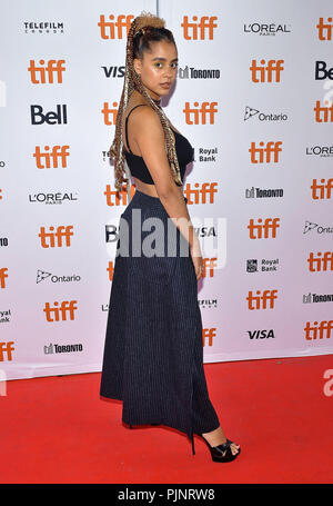 Toronto, Ontario, USA. 7th Sep, 2018. 07 September 2018 - Toronto, Ontario, Canada - Olive Gray. ''Teen Spirit'' Premiere - 2018 Toronto International Film Festival held at the Ryerson Theatre. Photo Credit: Brent Perniac/AdMedia Credit: Brent Perniac/AdMedia/ZUMA Wire/Alamy Live News - Stock Photo