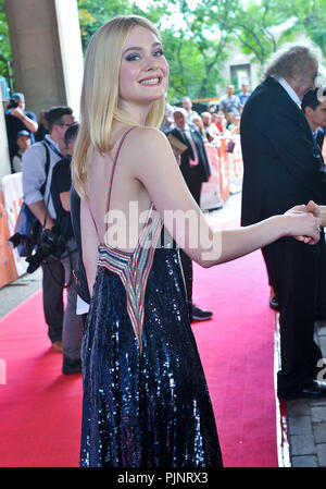 Toronto, Ontario, USA. 7th Sep, 2018. 07 September 2018 - Toronto, Ontario, Canada - Elle Fanning. ''Teen Spirit'' Premiere - 2018 Toronto International Film Festival held at the Ryerson Theatre. Photo Credit: Brent Perniac/AdMedia Credit: Brent Perniac/AdMedia/ZUMA Wire/Alamy Live News - Stock Photo