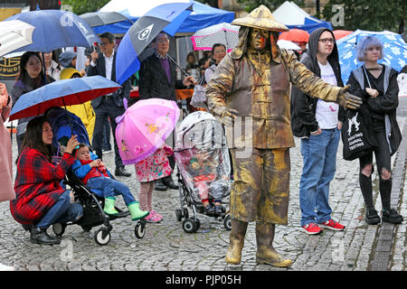 Manchester, UK. 8th Sept, 2018. Manchester Passport to Taiwan Festival, the largest Taiwanese festival in the UK, which brings Taiwanese food and music, to the city, Albert Square, Manchester , 8th September, 2018 (C)Barbara Cook/Alamy Live News - Stock Photo