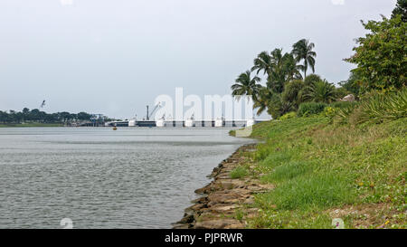Singapore, Singapore- August 07, 2018: View of the Kallang River - Stock Photo