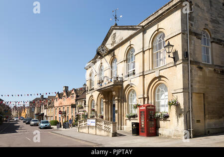 Georgian architecture of Town Hall building, Corsham, Wiltshire, England, UK dating from 1784 - Stock Photo