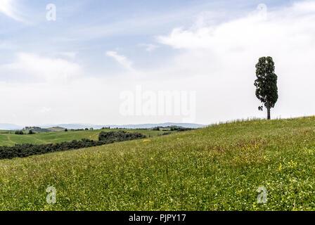 Crete senesi landscape,Tuscany,Italy.2018. - Stock Photo