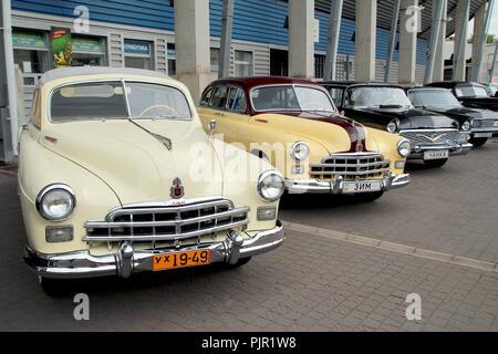 Retromotorfest, Vintage car festival. - Stock Photo