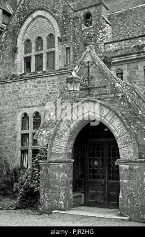 Front Entrance, Knightshayes Court, Devon - Stock Photo
