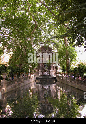 Fontaine des Médicis, built 1630, moved and extensively modified 1864, Jardin du Luxembourg, Paris - Stock Photo