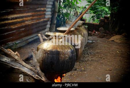 Domestic Kitchen at Himachal Pradesh - Stock Photo