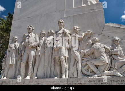 The Alamo Cenotaph aka The Spirit of Sacrifice Monument, Alamo Plaza, San Antonio, Texas, USA - Stock Photo
