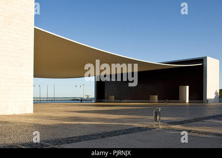 Lisbon Expo 1998, Parque das Nações, Pavilhão de Portugal This building, which has been designed by Alvaro Siza Vieira, - Stock Photo