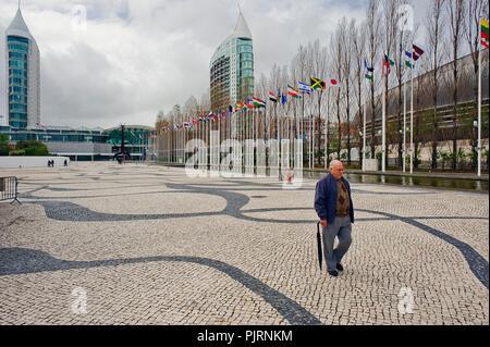 Lisbon Expo 1998, Parque das Nações, Fernando Conduto was inspired by the 'high seas' - an undulating motif from the beginning of the century - Stock Photo