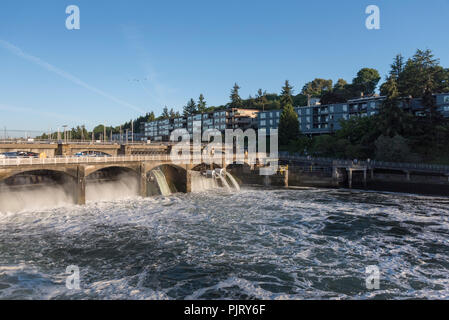 Hiram M. Chittenden locks - Stock Photo
