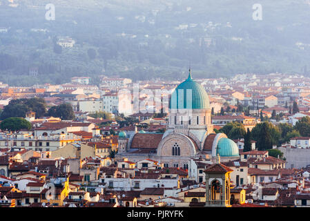 Great Synagogue of Florence at Sunrise - Stock Photo