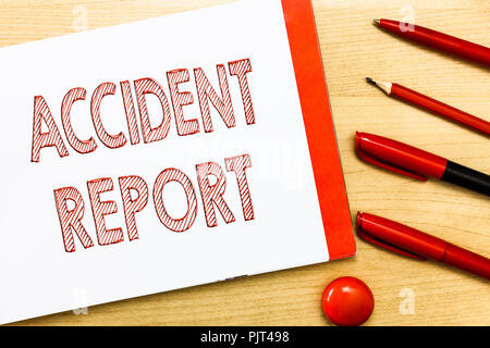 Handwriting Text Writing Accident Report Concept Meaning A Form
