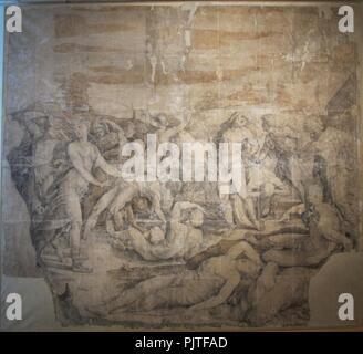 Beccafumi, cartone per pavimento duomo diena, 1529-1531, 01. - Stock Photo