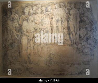 Beccafumi, cartone per pavimento duomo diena, 1529-1531, 03. - Stock Photo