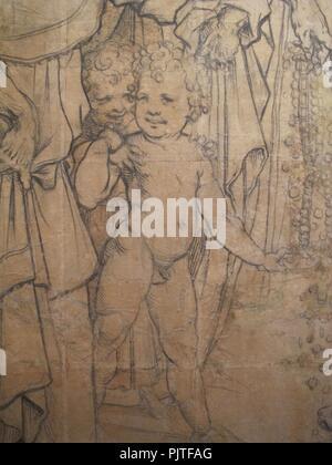 Beccafumi, cartone per pavimento duomo diena, 1529-1531, 04. - Stock Photo