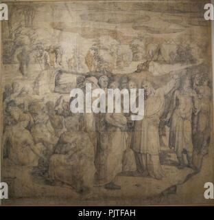 Beccafumi, cartone per pavimento duomo diena, 1529-1531, 05. - Stock Photo