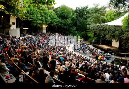 The open air theatre Rivierenhof in Deurne, Antwerp (Belgium, 08/07/2009) - Stock Photo