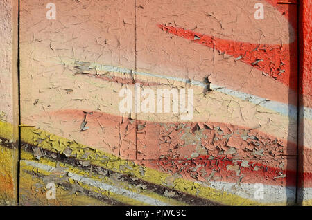 Abstract graffiti paintings on the concrete wall. Background texture - Stock Photo