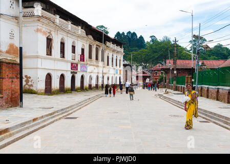 Pashupatinath, Nepal - July 17, 2018 : View over Pashupatinath, a famous and sacred Hindu temple complex, located on banks of the Bagmati River - Stock Photo