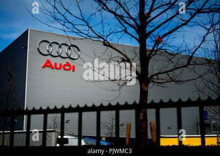 The Audi Brussels plant in Forest / Vorst (Belgium, 01/02/2010) - Stock Photo