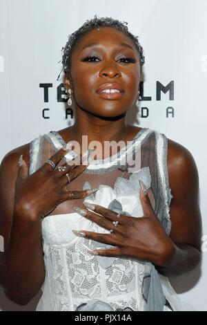 Toronto, Canada. 8th Sep, 2018. Cynthia Erivo at arrivals for WIDOWS Premiere at Toronto International Film Festival 2018, Roy Thomson Hall, Toronto, Canada September 8, 2018. Credit: JA/Everett Collection/Alamy Live News - Stock Photo