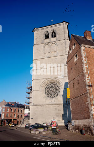 The 14th Century Collegial Notre-Dame of Huy church in Huy (Belgium, 29/09/2011) - Stock Photo