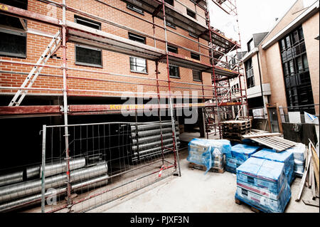 A construction site in Louvain-La-Neuve (Belgium, 20/08/2013) - Stock Photo