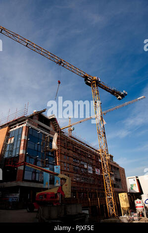 Construction works in Louvain-La-Neuve (Belgium, 02/03/2011) - Stock Photo