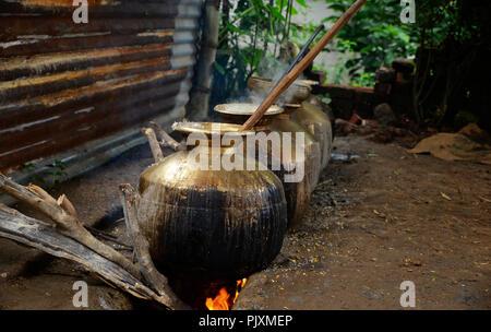 Domestic Kitchen at Himachal Pradesh   Domestic Kitchen at Himachal Pradesh - Stock Photo