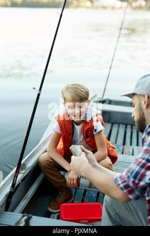 Fish of dad - Stock Photo