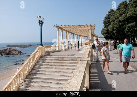 Matosinhos beach, at Porto District, Portugal - Stock Photo