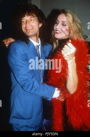 Mick Jagger Jerry Hall in 1988 Photo By Adam Scull/PHOTOlink /MediaPunch - Stock Photo