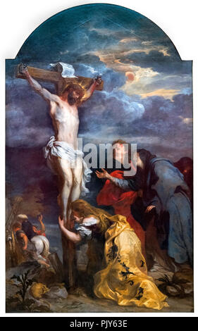 Christ on the Cross s by Sir Anthony van Dyck (1599-1641), oil on canvas, c.1630 - Stock Photo