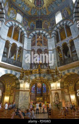 Karl's chapel central construction, cathedral, Aachen, North Rhine-Westphalia, Germany, Karlskapelle Zentralbau, Dom, Nordrhein-Westfalen, Deutschland - Stock Photo