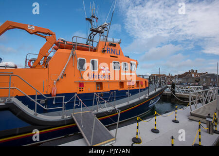 the severn class lifeboat at Yarmouth on the isle of wight. - Stock Photo