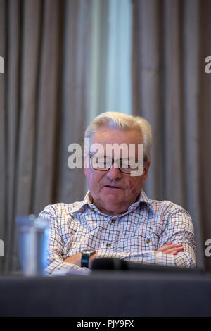 Cardiff, UK. September 2018. Lord Dafydd Elis-Thomas at Cardiff Book Festival. - Stock Photo