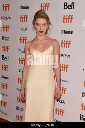 Toronto, Canada. 09th Sep, 2018. Amber Heard attends the 'Her Smell' premiere during 2018 Toronto International Film Festival at Winter Garden Theatre on September 9, 2018 in Toronto, Canada. Credit: Is/Media Punch/Alamy Live News - Stock Photo