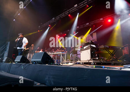 De La Soul performing on the Main Stage at the OnBlackheath Music Festival, Lewisham, London - Stock Photo
