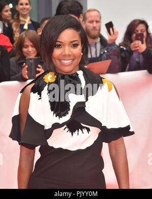 Toronto, Canada. 09th Sep, 2018. Gabrielle Union attends the 'The Public' premiere during 2018 Toronto International Film Festival at Roy Thomson Hall on September 9, 2018 in Toronto, Canada. Credit: Is/Media Punch/Alamy Live News - Stock Photo