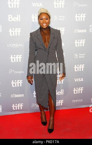 Toronto, Canada. 9th Sep, 2018. Cynthia Erivo at the press conference for WIDOWS Press Conference at Toronto International Film Festival 2018, The Gallery, Toronto, Canada September 9, 2018. Credit: JA/Everett Collection/Alamy Live News - Stock Photo