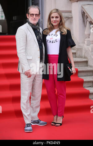 UK Premiere of the Wife held at Somerset House - Arrivals  Featuring: Bjorn Runge, Alix Wilton Regan Where: London, United Kingdom When: 09 Aug 2018 Credit: Lia Toby/WENN.com - Stock Photo
