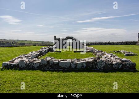 Ruins of Nendrum Monastry, Mahee Island, County Down, N.Ireland - Stock Photo