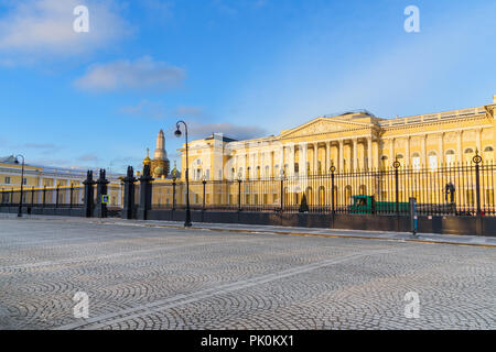 State Russian Museum. Mikhailovsky Palace in winter in Saint Petersburg. Russia - Stock Photo