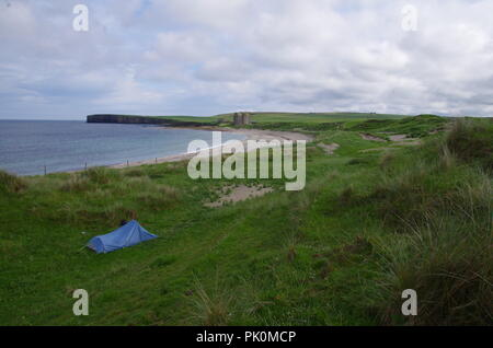 Wild camping at Freswick Bay. Freswick. John o' groats ...