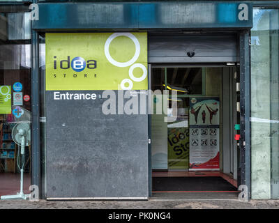 Entrance to the Idea Store on Whitechapel Road, designed by David Adjaye and opened in 2005, a library and information centre  for Tower Hamlets - Stock Photo
